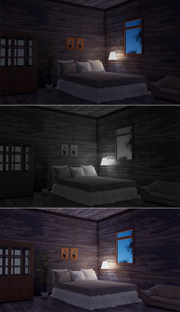 Bedroom Model Night  - 3DOcean Item for Sale