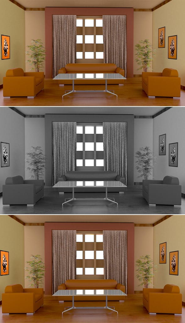 Waiting Room Model - 3DOcean Item for Sale