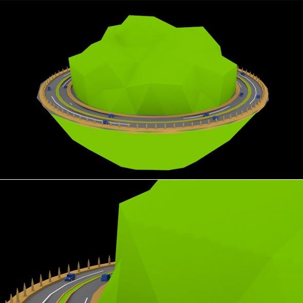 Hills Race 3d Model