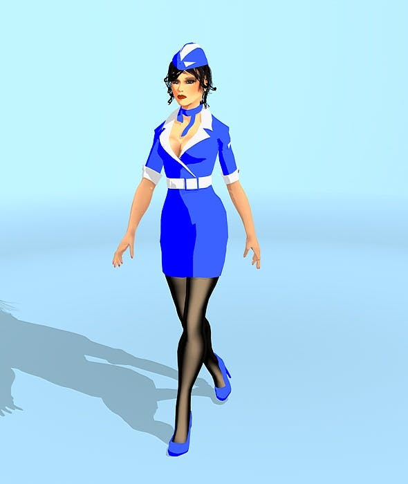 Sky Gerl+Animated Walk - 3DOcean Item for Sale