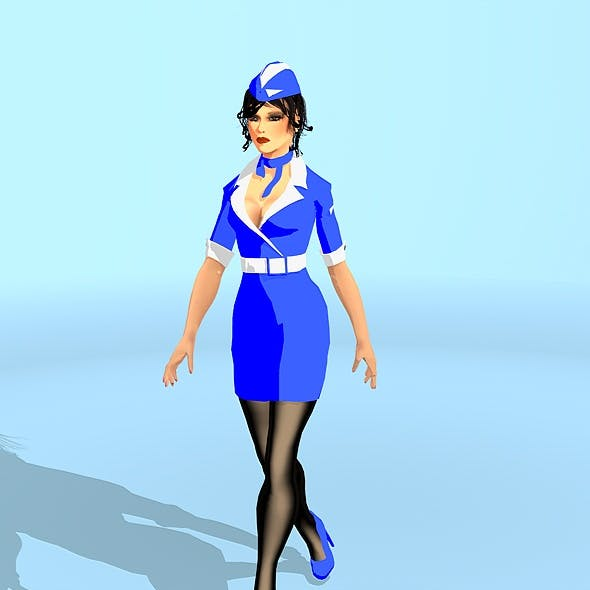 Sky Gerl+Animated Walk