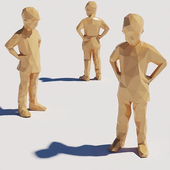 Lowpoly Kid 009 - 3DOcean Item for Sale