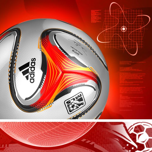 Official Match Ball MLS - PRIME - 2014 3D model