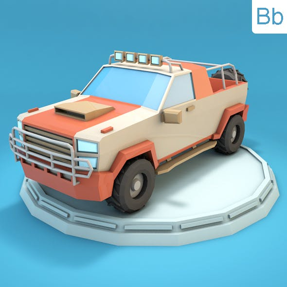 Low Poly Jeep - 3DOcean Item for Sale