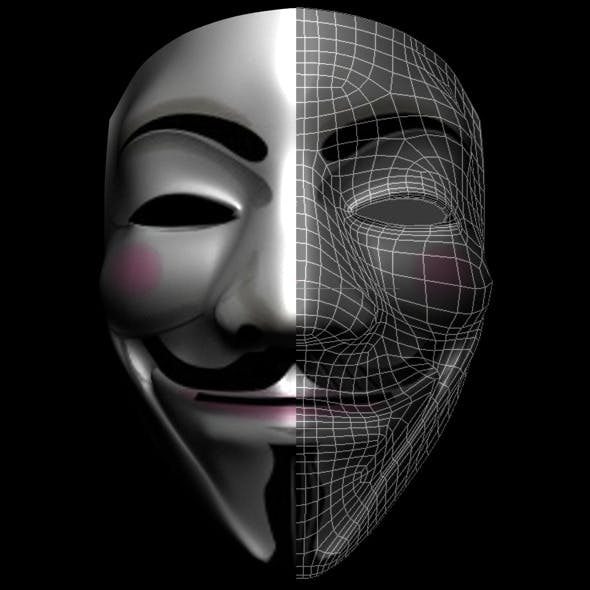 Anonymous Mask - 3DOcean Item for Sale