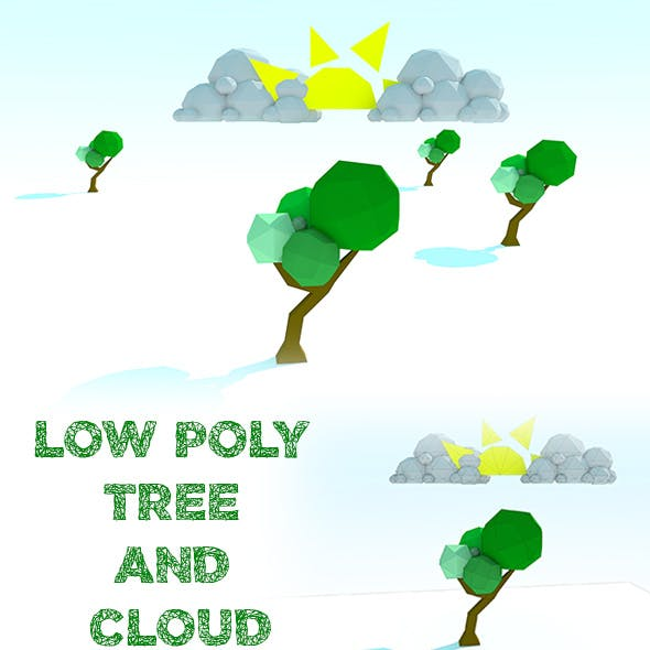 Low Poly Tree and Cloud