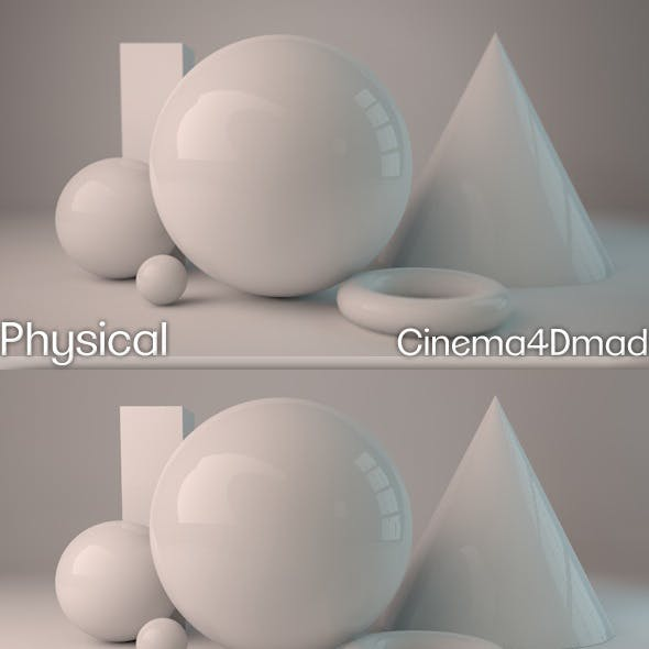 Physical render studio cinema 4D