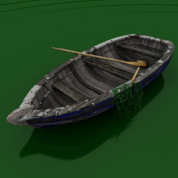 Old rowing boat - 3DOcean Item for Sale