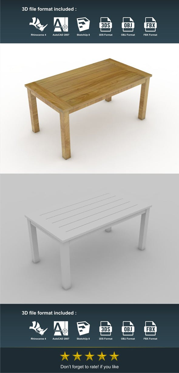 Gede Dining Table - 3DOcean Item for Sale