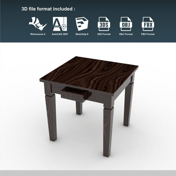 Mini Dining Table 2 Drawer
