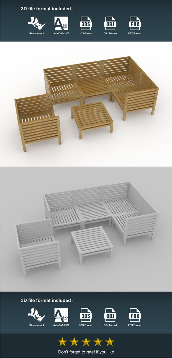 Spa Chair & Coffee Table - 3DOcean Item for Sale