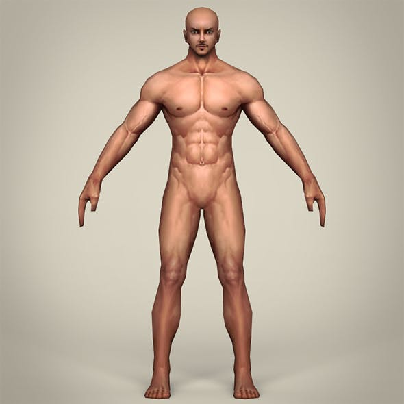 Game Ready Realistic Man Base Mesh - 3DOcean Item for Sale