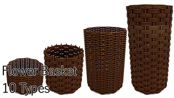 Flower Basket pack - 3DOcean Item for Sale