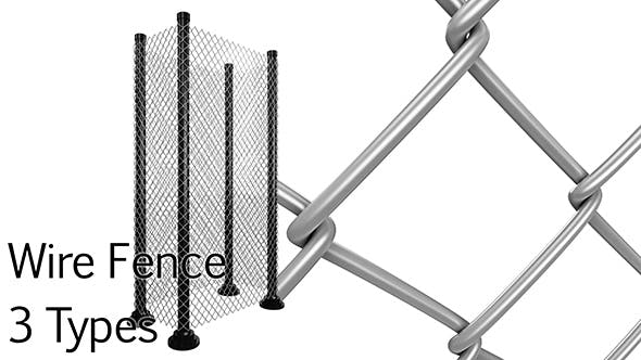 Wire Fence pack - 3DOcean Item for Sale