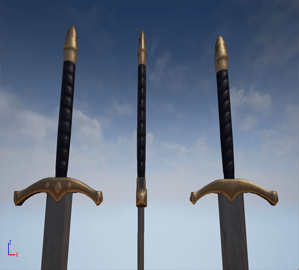 Low poly sword for game - 3DOcean Item for Sale