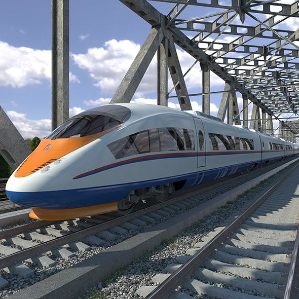 Electric Train Siemens Velaro RUS - 3DOcean Item for Sale