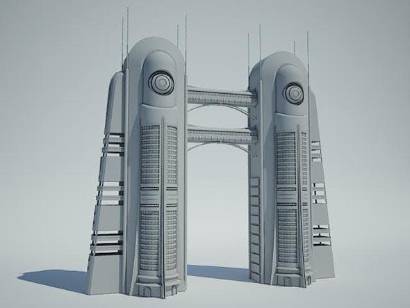 Futuristic Sci Fi Building 6 - 3DOcean Item for Sale