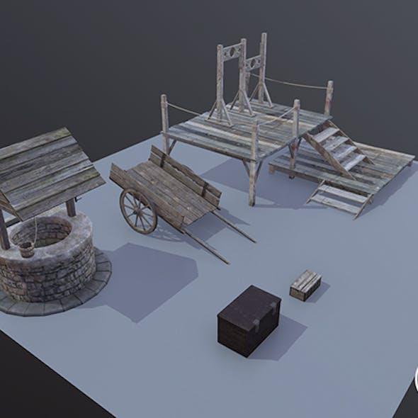 Medieval Props Set