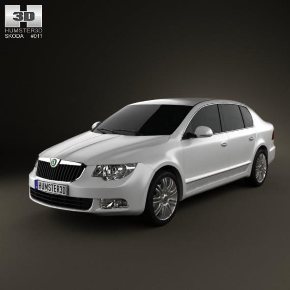 Skoda Superb Sedan 2011 - 3DOcean Item for Sale