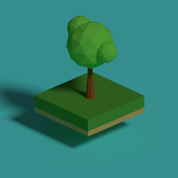 Summer Time Low Poly Tree