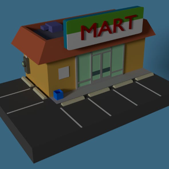 Low Poly Grocery Store