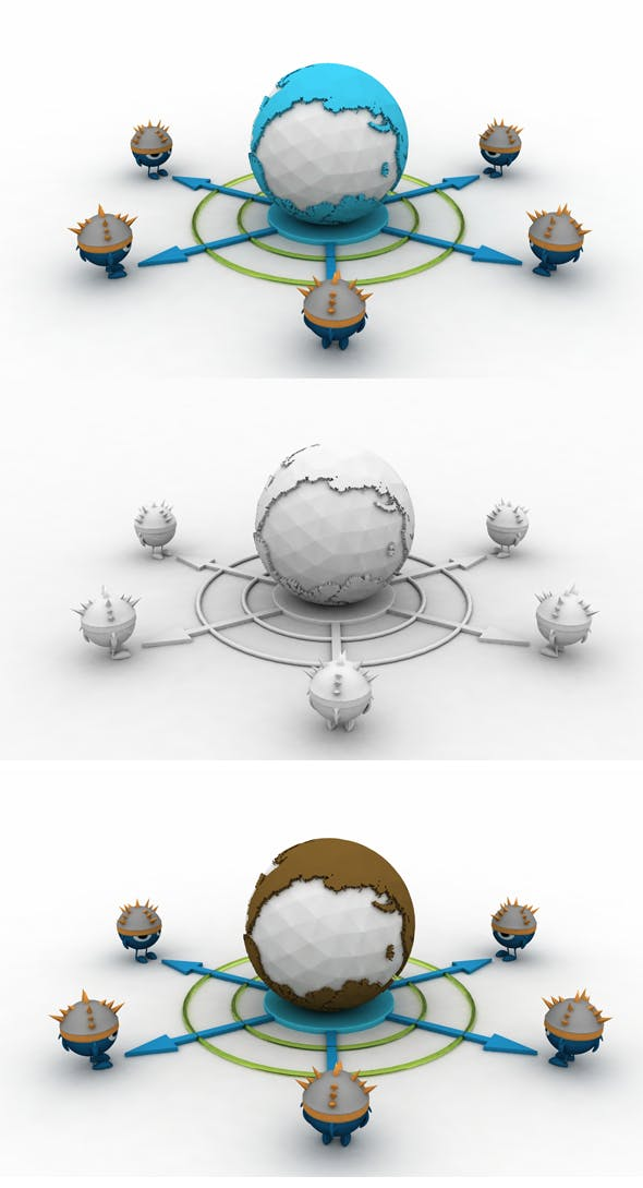 World Viking Plan - 3DOcean Item for Sale