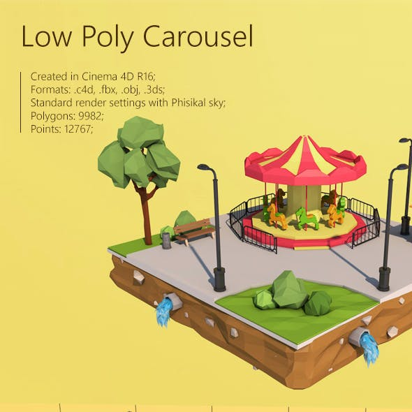 Low Poly Carousel