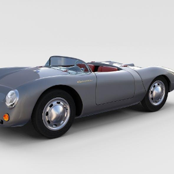 Porsche 550 Spyder gray rev