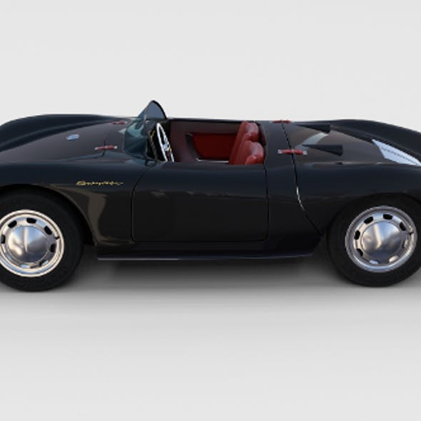 Porsche 550 Spyder black rev