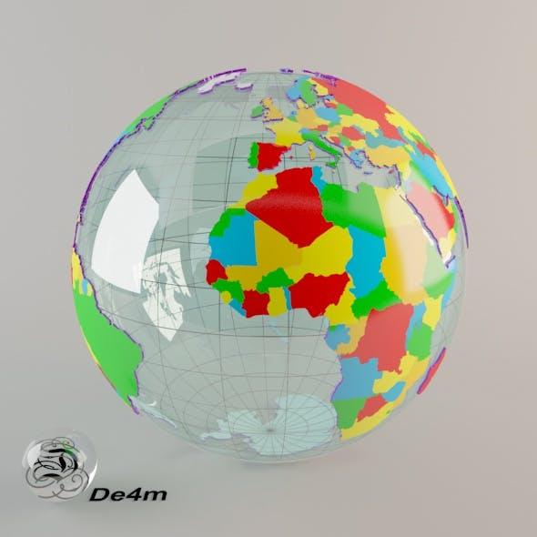 World Globe (political) - 3DOcean Item for Sale