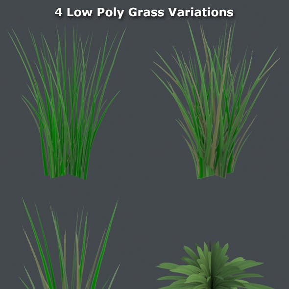 Grass Low Poly Pack