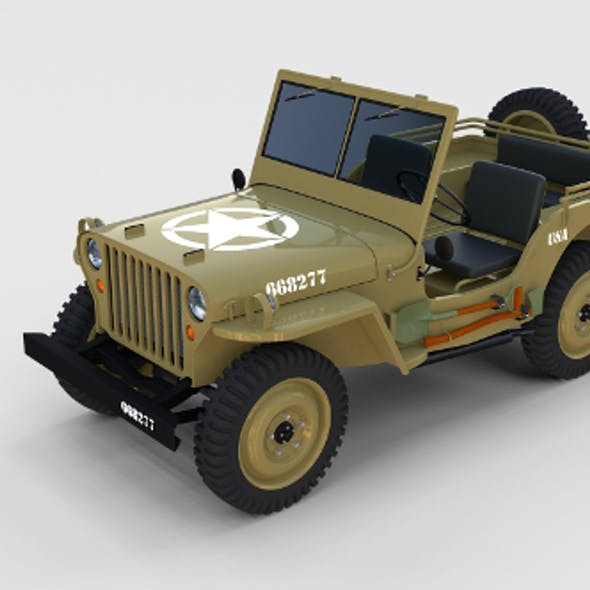 Full (w chassis) Jeep Willys MB Military Desert rev