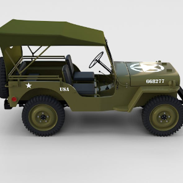 Full (w chassis) Jeep Willys MB Military Top rev