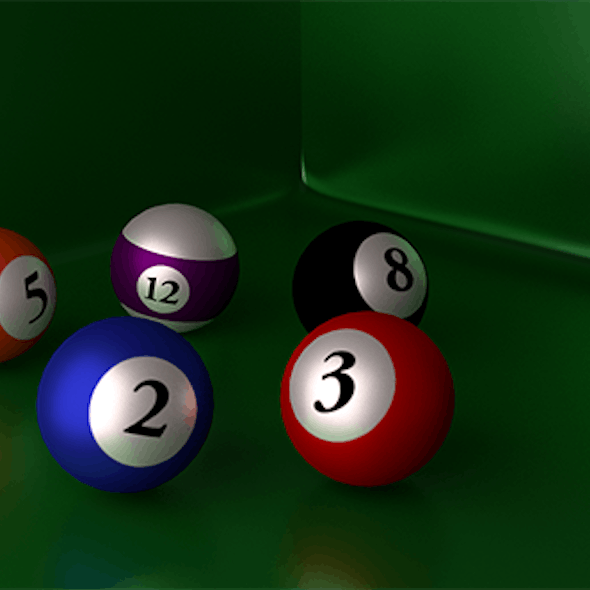 PoolBalls Blender Cycles