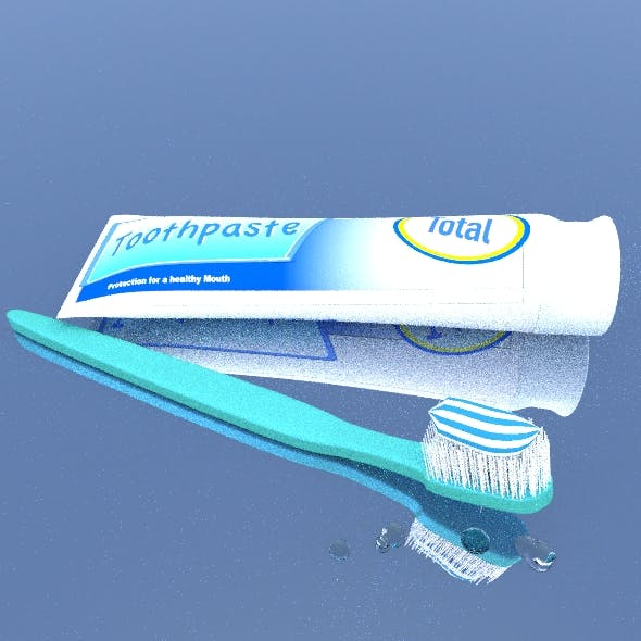 Toothpaste with Brush.
