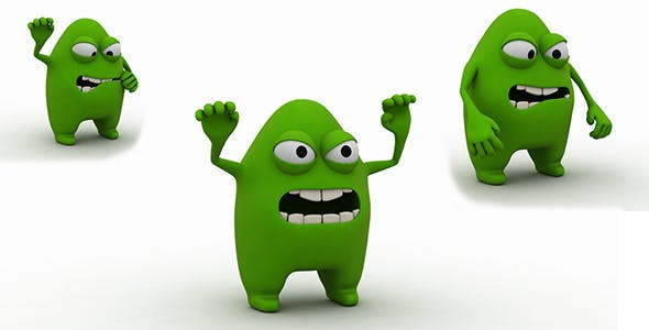 Germ Character 3d Model - 3DOcean Item for Sale