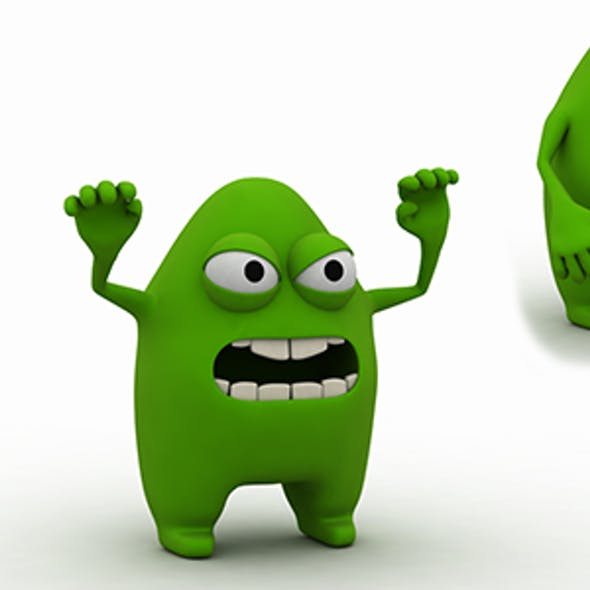 Germ Character 3d Model