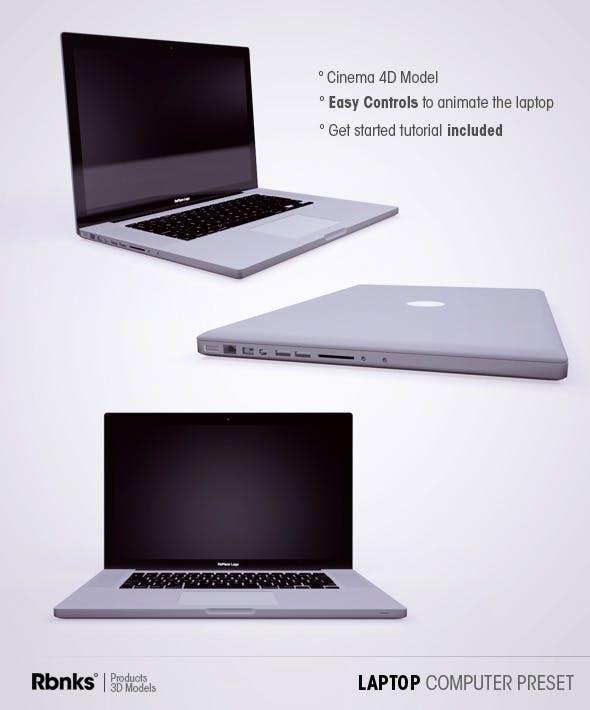 Laptop Computer Preset - 3DOcean Item for Sale