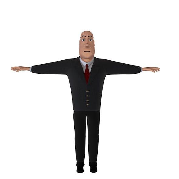 Cartoon Character Lawyer Jack - 3DOcean Item for Sale