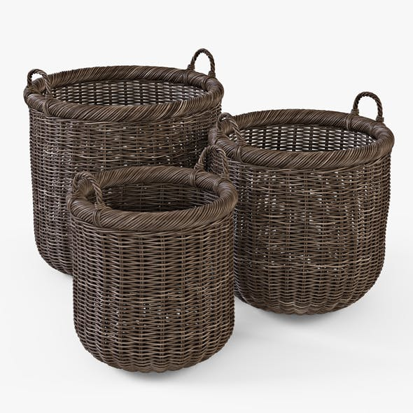 Wicker Basket 07 (Walnut Brown Color)