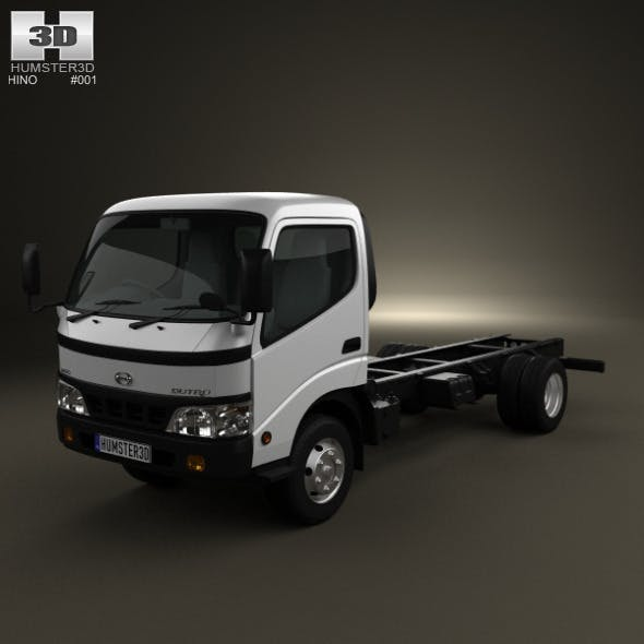 Hino Dutro StandardCab Chassis 2010 - 3DOcean Item for Sale