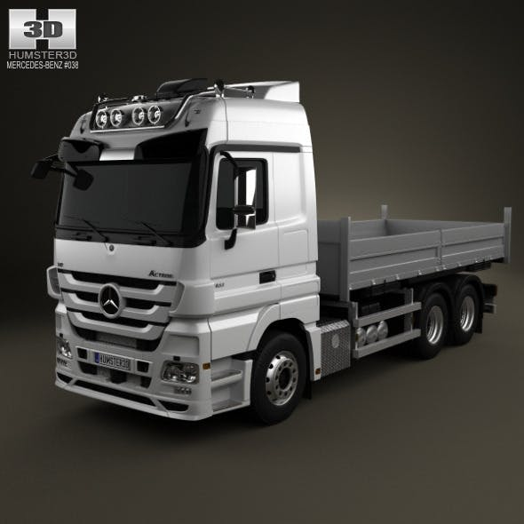 Mercedes-Benz Actros Flatbed 3-axis 2011 - 3DOcean Item for Sale