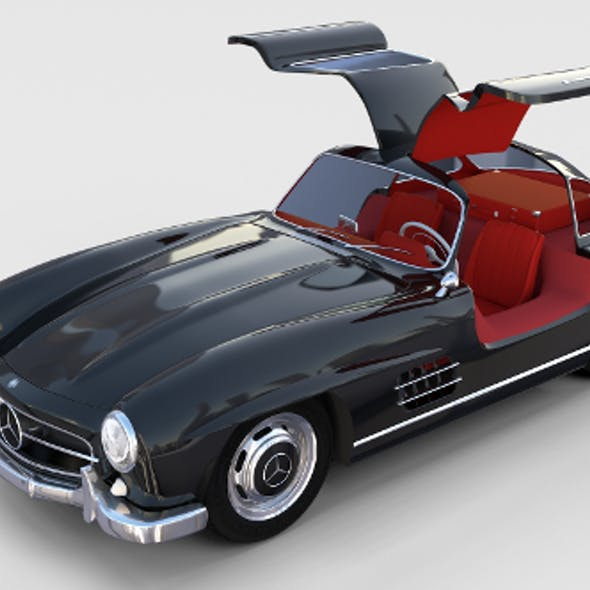 Rigged Mercedes 300SL Gullwing with Interior rev