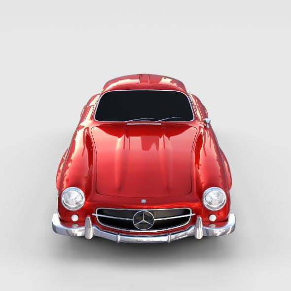 Rigged Mercedes 300SL W198 rev - 3DOcean Item for Sale