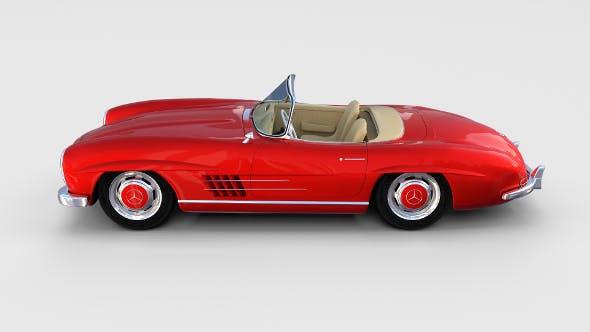 Fully Modelled Mercedes 300SL Roadster Red rev - 3DOcean Item for Sale
