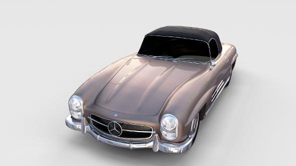 Mercedes 300SL Roadster Top Up rev - 3DOcean Item for Sale
