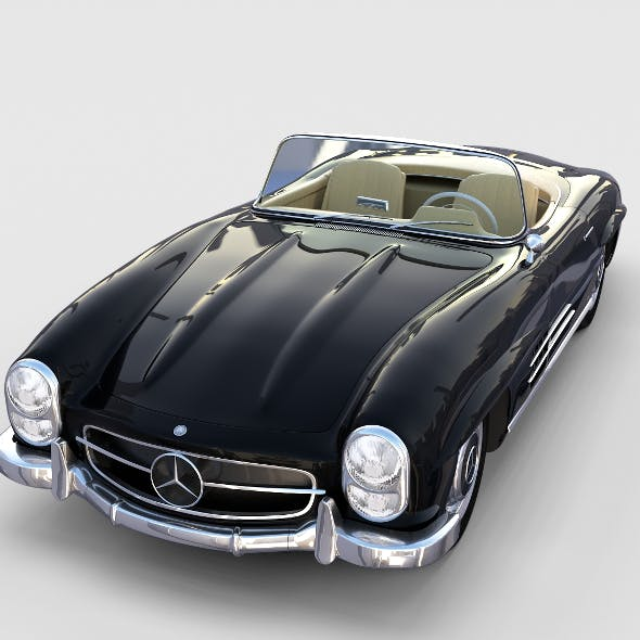 Mercedes 300SL Roadster W198 rev - 3DOcean Item for Sale