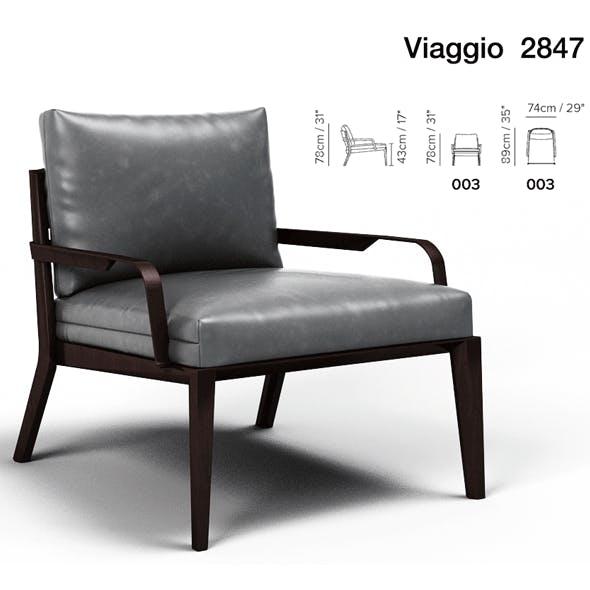 Armchair Viaggio Natuzzi - 3DOcean Item for Sale