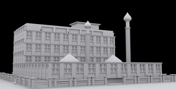Low Poly Mosque - 3DOcean Item for Sale