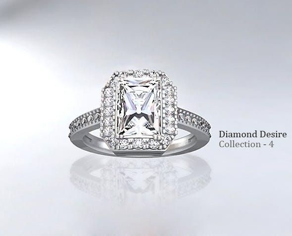 Diamond Ring 4 - 3DOcean Item for Sale